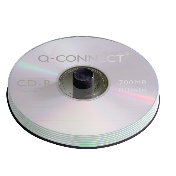 Image for Q-Connect CD-R Spindle 80min 52x 700MB (Pack of 100) KF07935