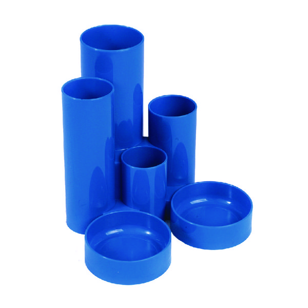 Q-Connect Desk Tidy Blue (W130 x D130 x H105mm) MPTUBKPBLU