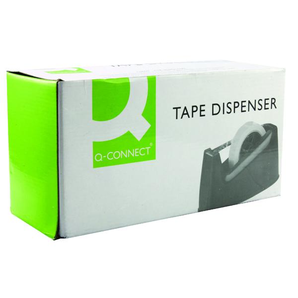 Q-Connect Tape Dispenser Large Black MPTDPKPBLK