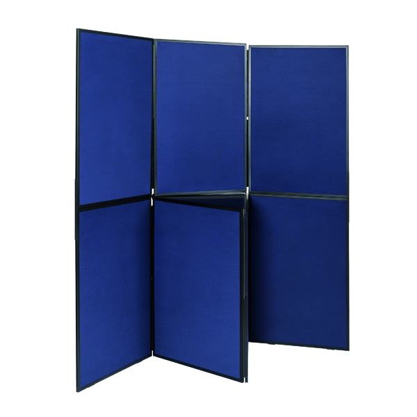 Q-Connect Display Board 7 Panel Blue/Grey DSP330517