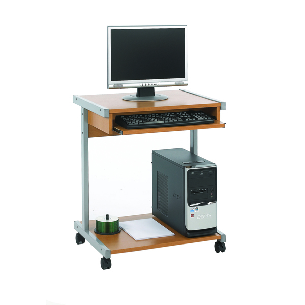 Image for Jemini Intro Beech 650mm Mobile Computer Workstation
