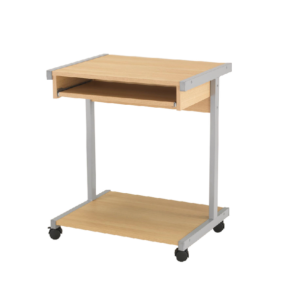 Image for Jemini Intro Oak 650mm Mobile Computer Workstation