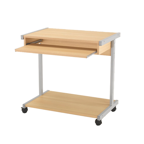 Image for Jemini Oak 800mm Mobile Computer Workstation