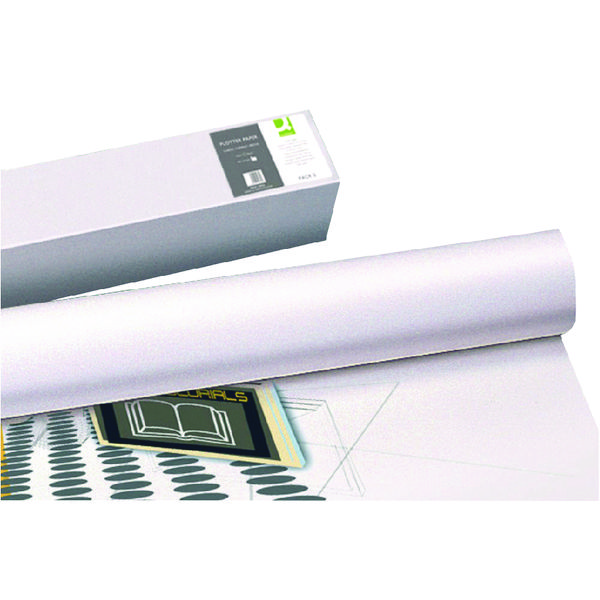 Q-Connect White Plotter Paper Matte 610mmx50m 80gsm (Pack of 4)