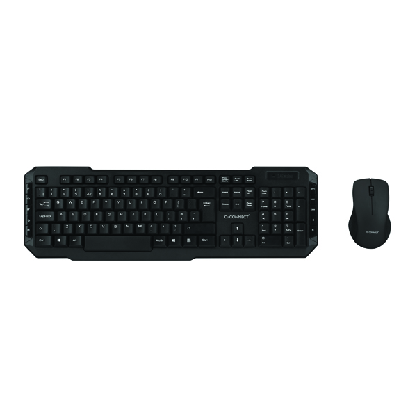 Q-Connect Wireless Keyboard/Mouse Black KF15397