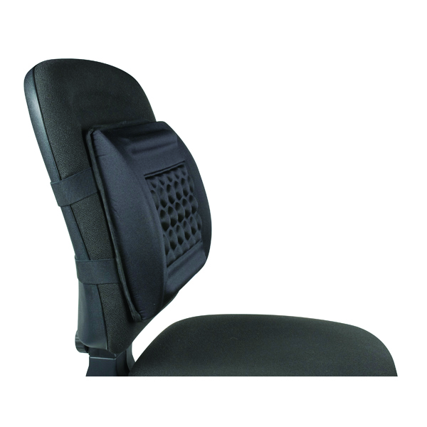 Q-Connect Foam Back Support Black KF15412