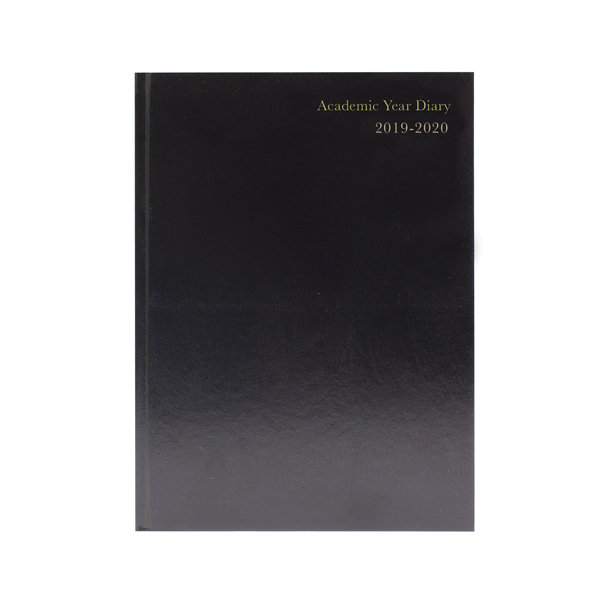 2019/2020 Academic Diary A4 Day Per Page Black