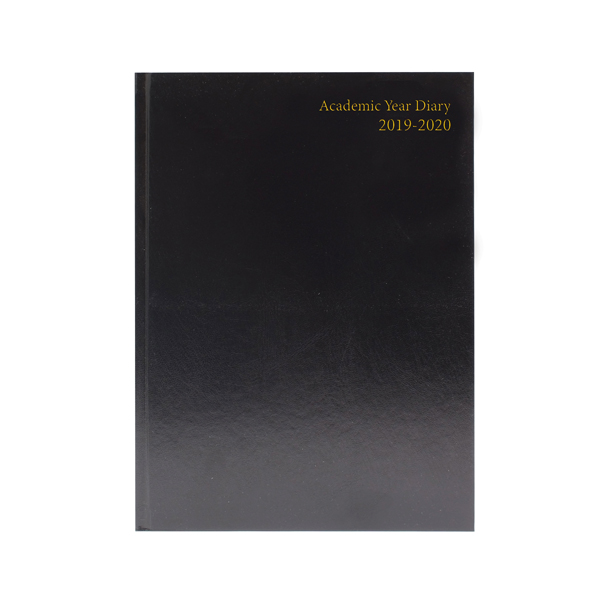 2019/2020 Academic Diary A5 Day Per Page Black
