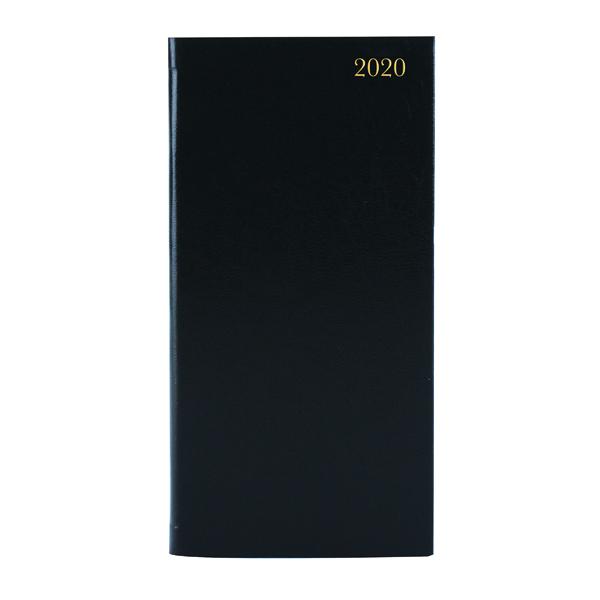Portrait Slim Diary Week to View 2020 Black