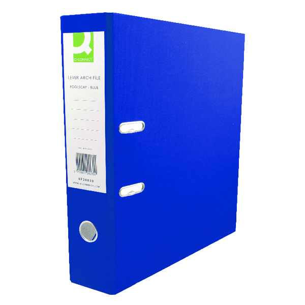 Q-Connect Blue Polypropylene A4 Lever Arch File (Pack of 10)