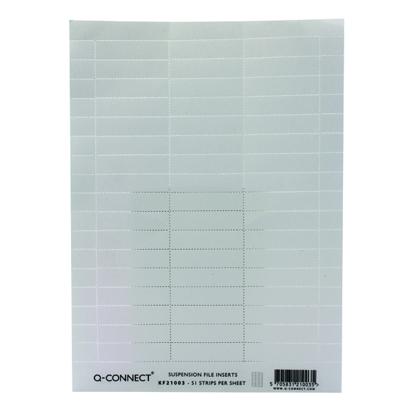 Image for Q-Connect Suspension File Insert White (Pack of 50) KF21003 (1)