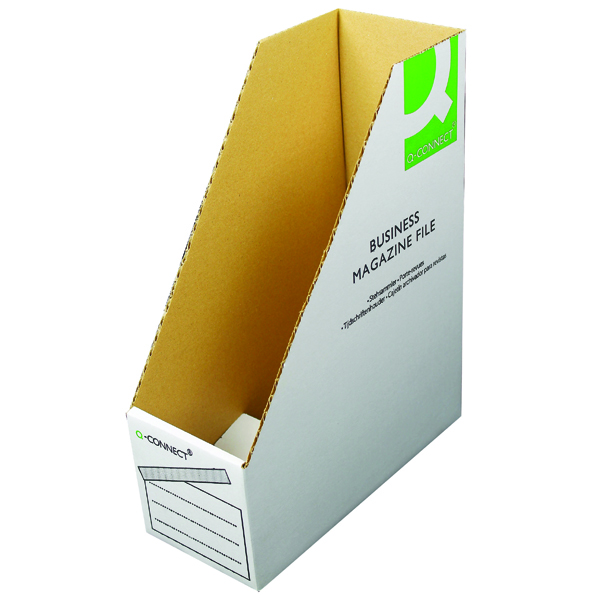 Q-Connect Business Magazine File W100xD230xH300mm White (Pack of 10) KF21659