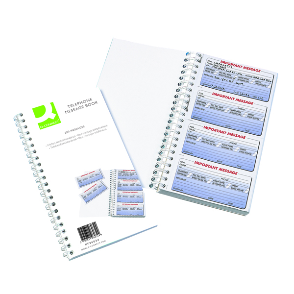 Image for Q-Connect Duplicate Telephone 200 Message Book