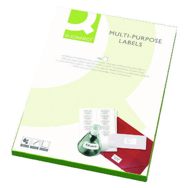 Q-Connect White Multipurpose Label 199.6 x 143.5mm 2 Per Sheet (Pack of 200) KF26056