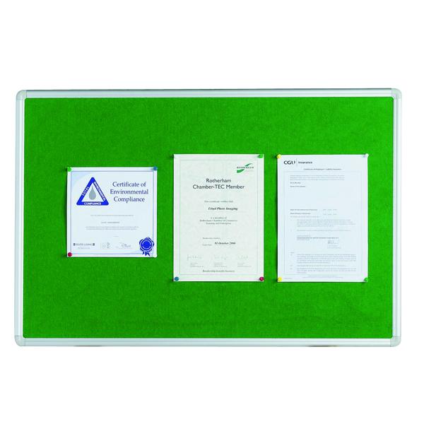 Q-Connect 1200x900mm Aluminium Frame Green Notice Board 54034204