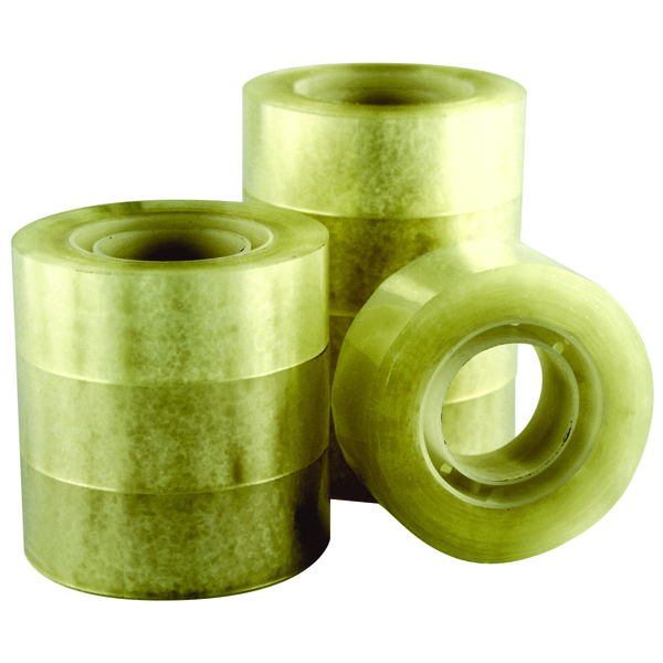 Image for Q-Connect Polypropylene Tape 19mm x 33m (Pack of 8)