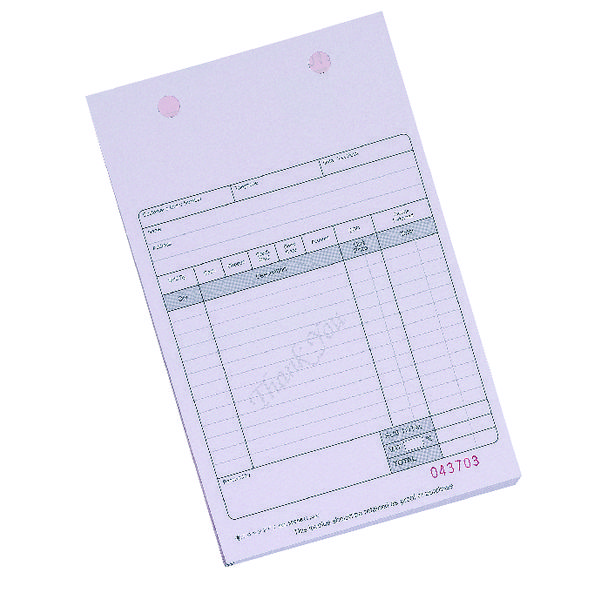 Q-Connect 2-Part Sales Receipt Form White (Pack of 100) KF32108