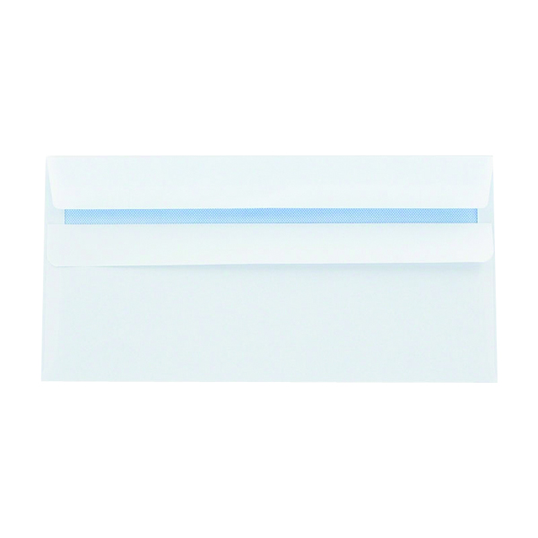 Q-Connect DL Envelopes Wallet Self Seal 100gsm White (Pack of 1000) 7137