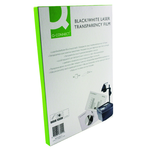 Image for Q-Connect Clear Mono Laser OHP Film (Pack of 50)