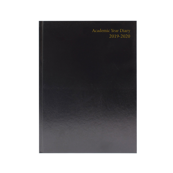 2019/2020 Academic Diary A4 Week To View Black