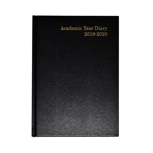 Academic Diary A5 Week to View 2019-20 Black