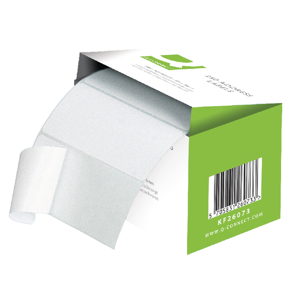Q-Connect Adhesive Address Label Roll 76x50mm (Pack of 1500) 9320029