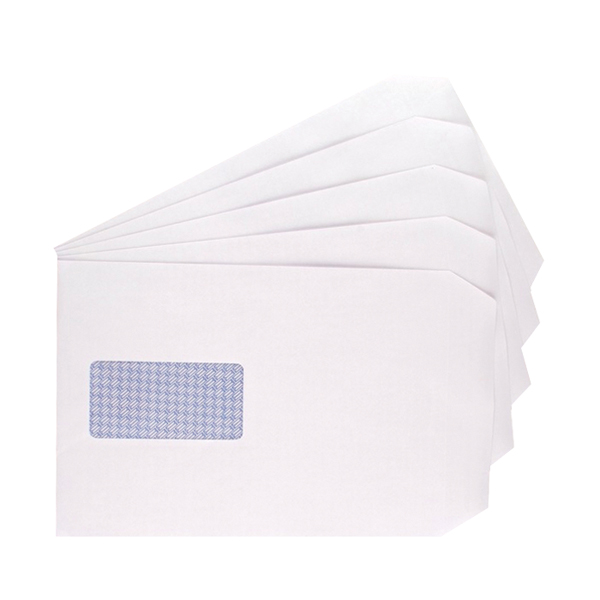 Image for Q-Connect C5 Window Envelopes 100gsm Self Seal White (Pack of 500) 9007500 (0)