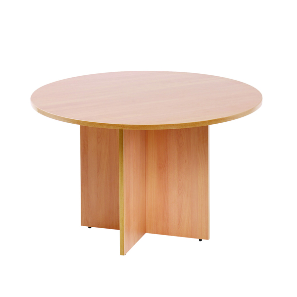 Image for Arista Beech 1100mm Round Meeting Table KF72048