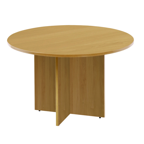 Image for Arista 1100mm Round Meeting Table Oak