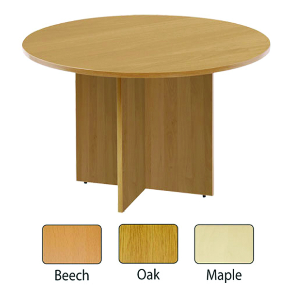 Image for Arista 1100mm Round Meeting Table Maple