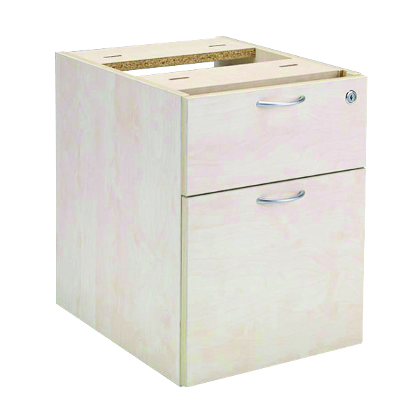 Jemini 2 Drawer Maple Fixed Pedestal