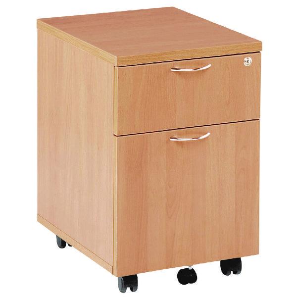 Jemini 2 Drawer Beech Mobile Pedestal