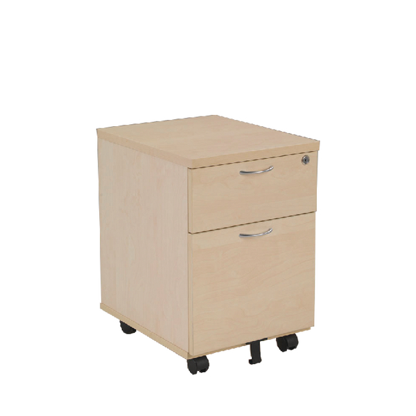 Jemini 2 Drawer Maple Mobile Pedestal