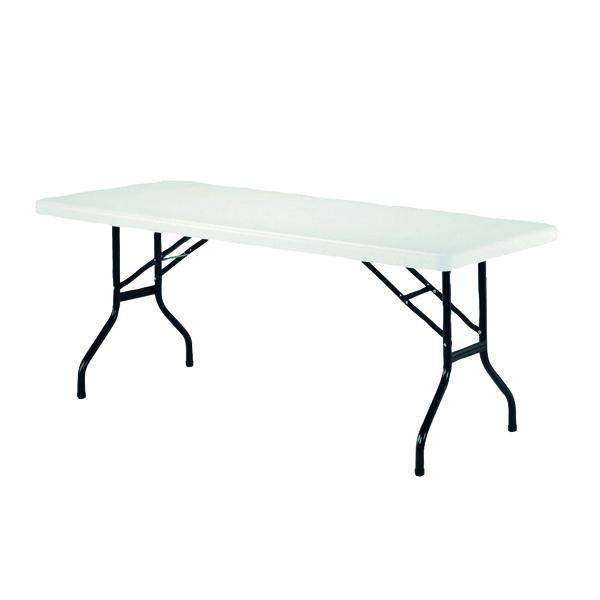 Image for Jemini White 1220mm Folding Rectangular Table KF72328 (1)