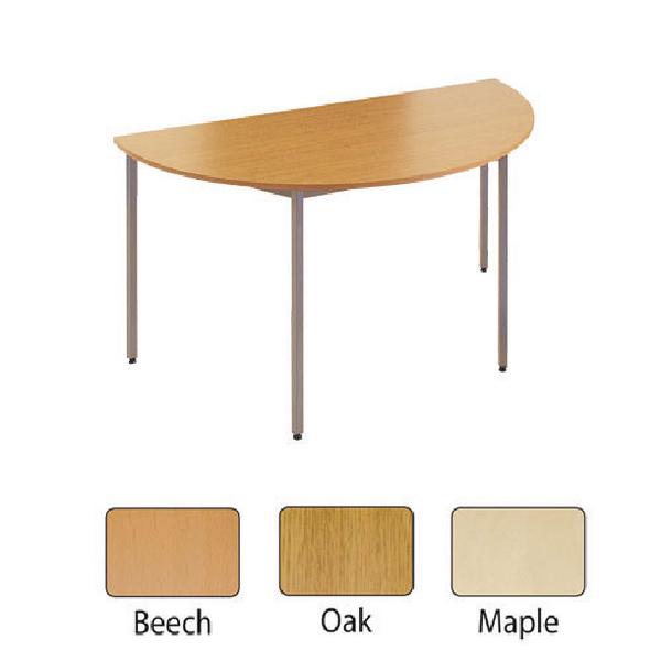 Jemini Semi-Circular Table 1600mm Beech