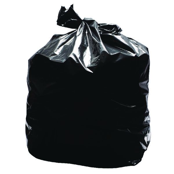 2WORK LD REFUSE SACKS BLACK 90L PK200