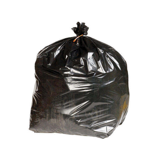 2WORK HD REFUSE SACKS BLK 90L PK200