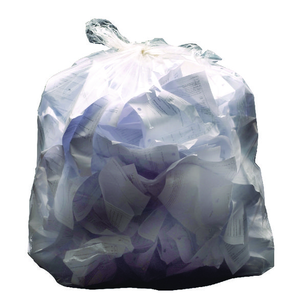 2Work Light Duty Refuse Sack Clear (Pack of 200) KF73377