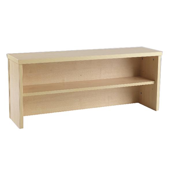Image for Jemini Intro 800mm Reception Desk Riser Warm Maple
