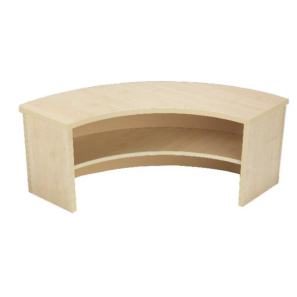 Image for Jemini Intro 90 Degree Corner Desk Riser Warm Maple