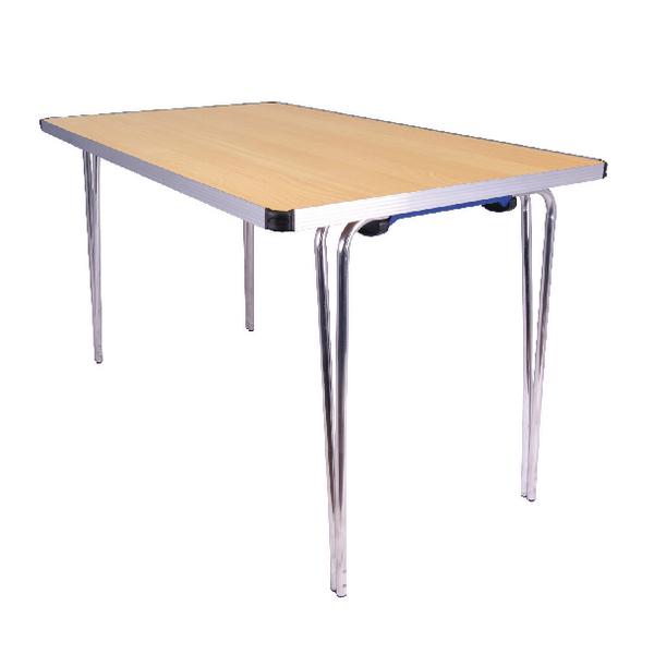 Jemini Japanese Beech W1220xD685xH698mm Rectangular Aluminium Folding Table