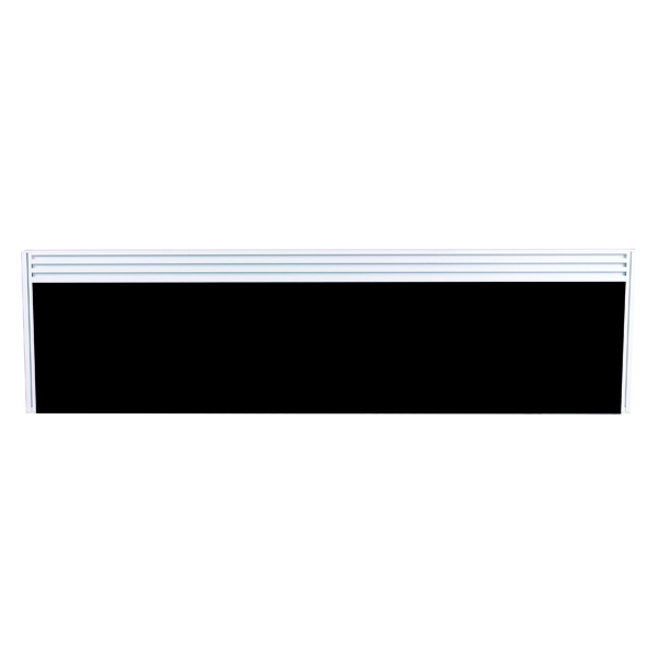 Image for Arista Tool Rail Screen Including Brackets 1200mm Black