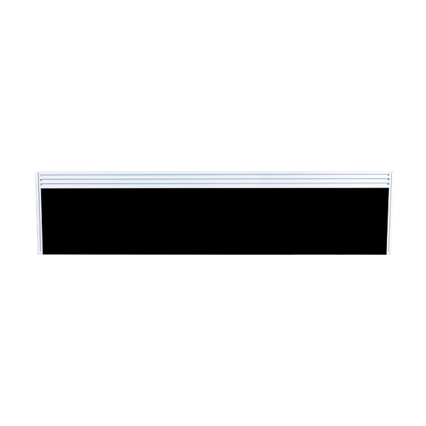 Image for Arista Tool Rail Screen Including Brackets 1400mm Black
