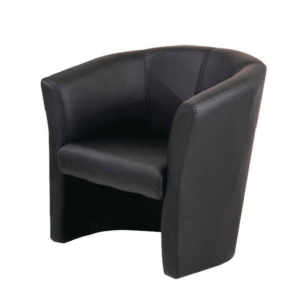 First Black Vinyl Tub Chair -