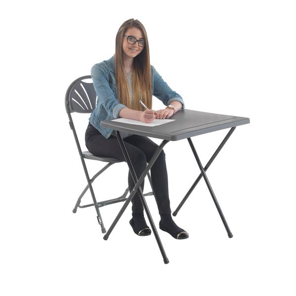 Titan Folding Exam Desk Polypropylene Charcoal