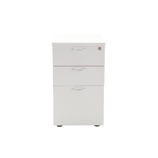 Jemini 3 Drawer Under-Desk Pedestal White