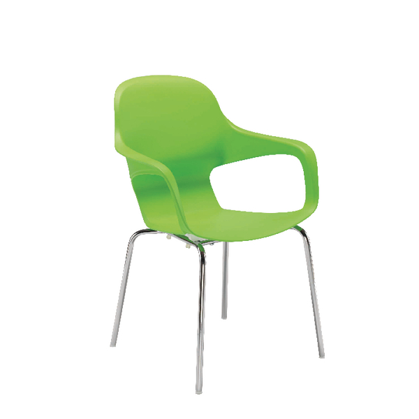 Image for Arista Cafe Bistro Chair with Chrome Base Green