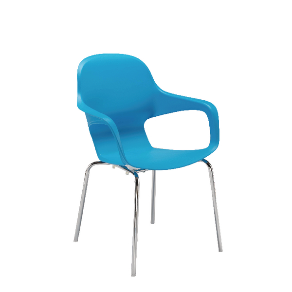 Image for Arista Cafe Bistro Chair with Chrome Base Blue