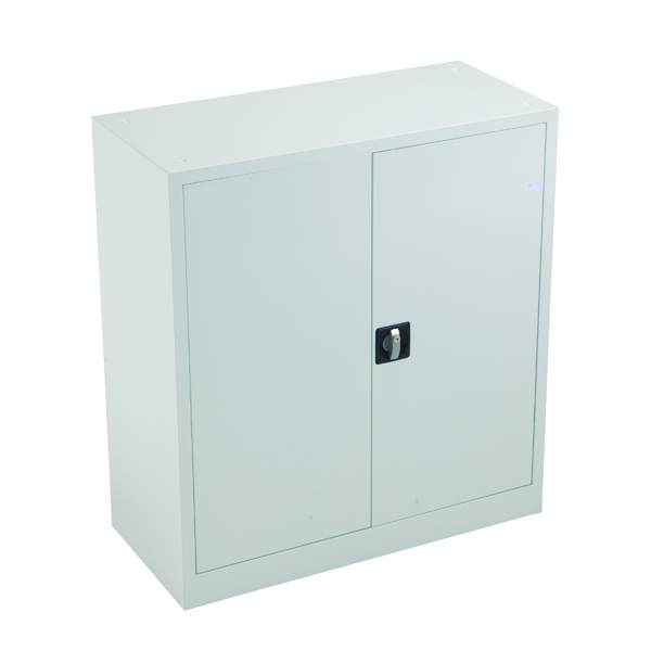 Image for Talos Double Door Stationery Cupboard 1000 White