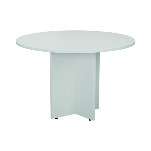 Jemini White Round D1200 Meeting Table